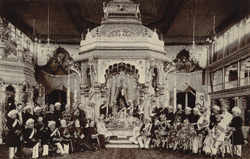 The European Durbar at the Marriage [of the Maharaja of Mysore].